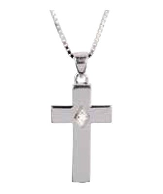 Cross w/ Clear CZ Stone